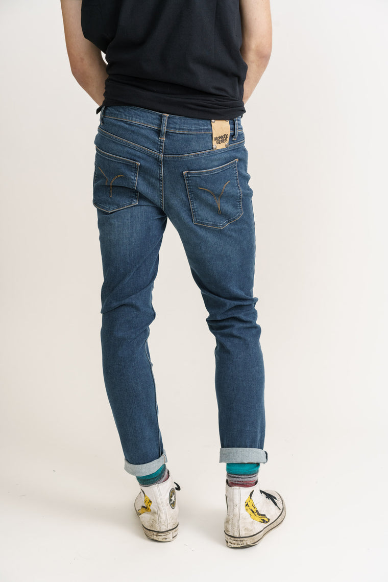 Organic Flex Classic Skinny Jeans in Dark Wash