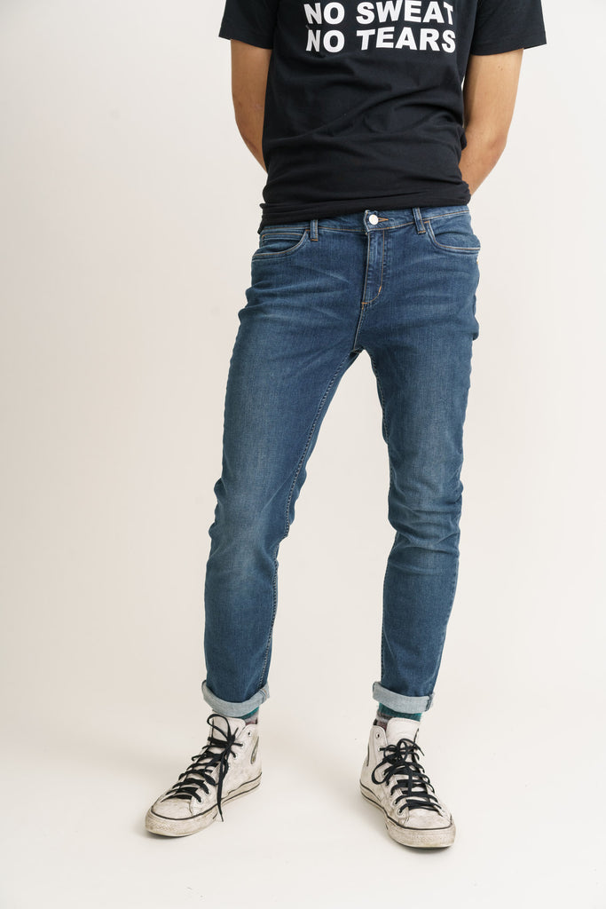CLASSIC SKINNY // Organic Flex Classic Skinny Jeans in Dark Wash - Monkee Genes Organic Jeans Denim - Organic Flex Men's Jeans Monkee Genes Official  Monkee Genes Official