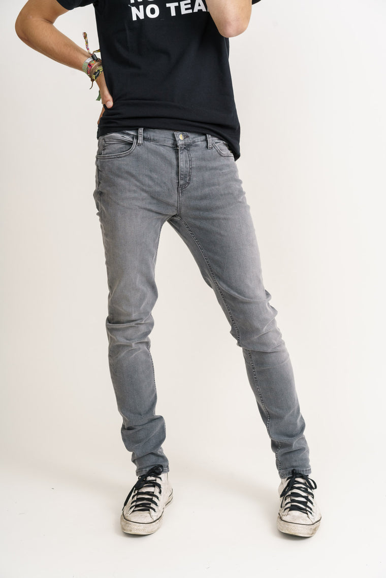 Men's Light Grey Stream Organic Flex Denim Classic Skinny Jeans