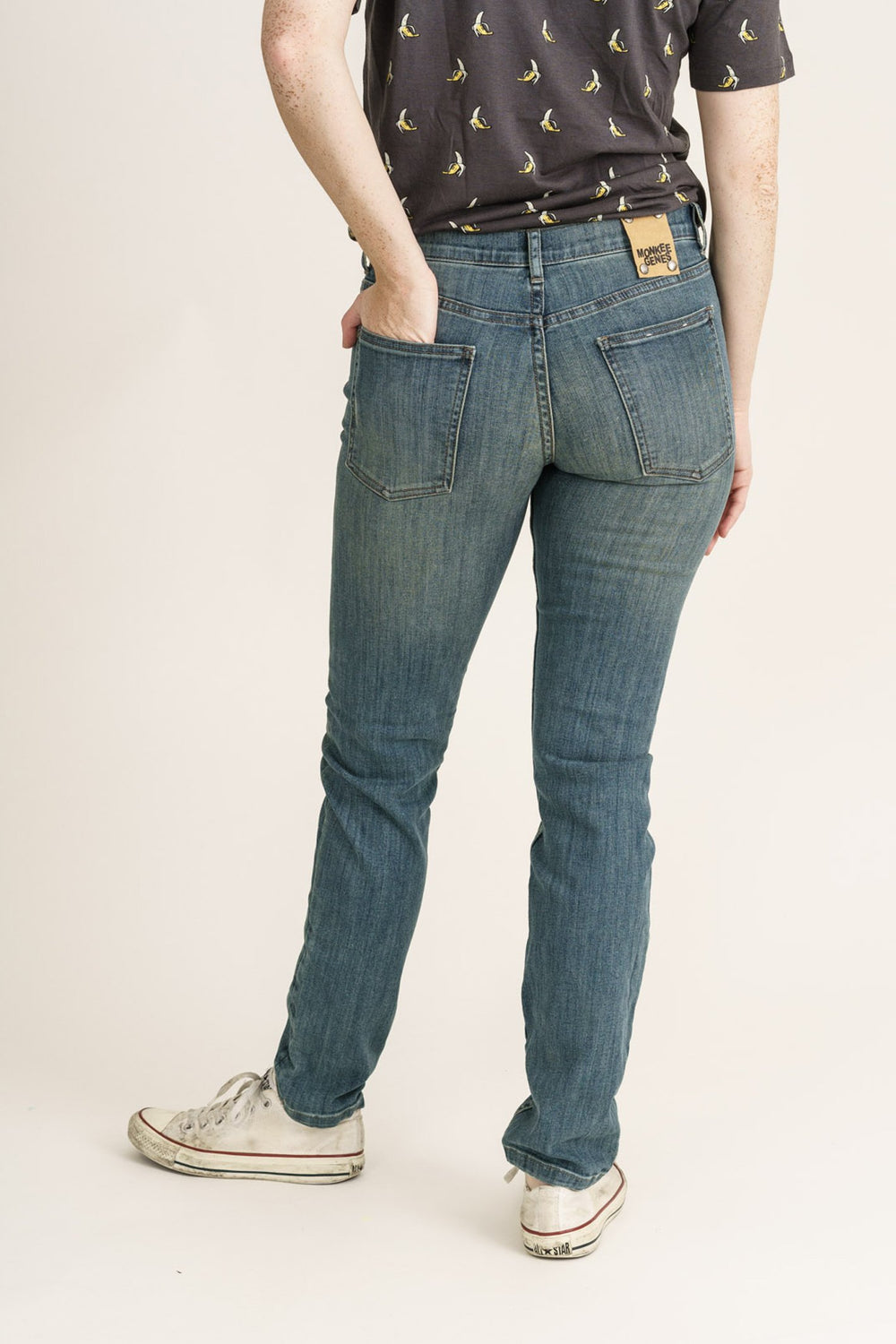 CLASSIC SKINNY // Organic Classic Skinny Jeans in Beat Wash - Monkee Genes Organic Jeans Denim - Women's Classic Skinny Monkee Genes Official  Monkee Genes Official