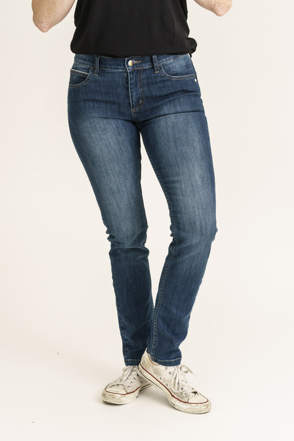 Dark Denim Classic Skinny Fit Organic Jeans - Monkee Genes Organic Jeans Denim - Women's Classic Skinny Monkee Genes Official  Monkee Genes Official