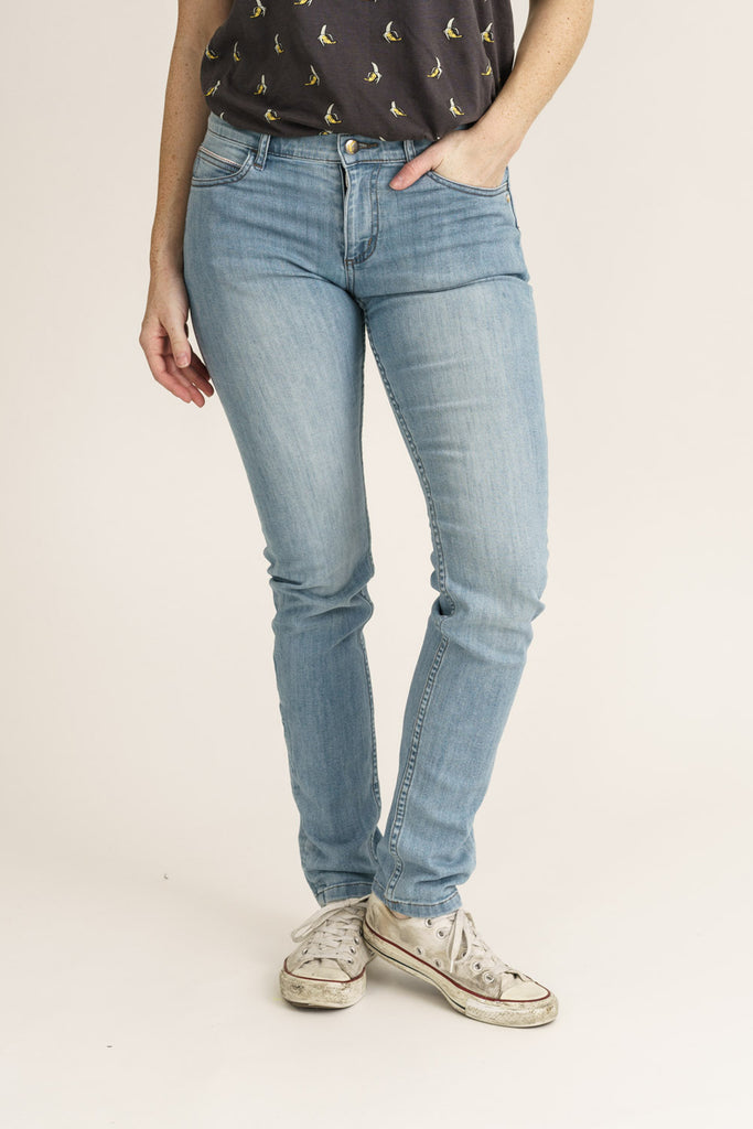 Superfly Light Beat Denim Classic Skinny Fit Organic Jeans - Monkee Genes Organic Jeans Denim - Women's Classic Skinny Monkee Genes Official  Monkee Genes Official