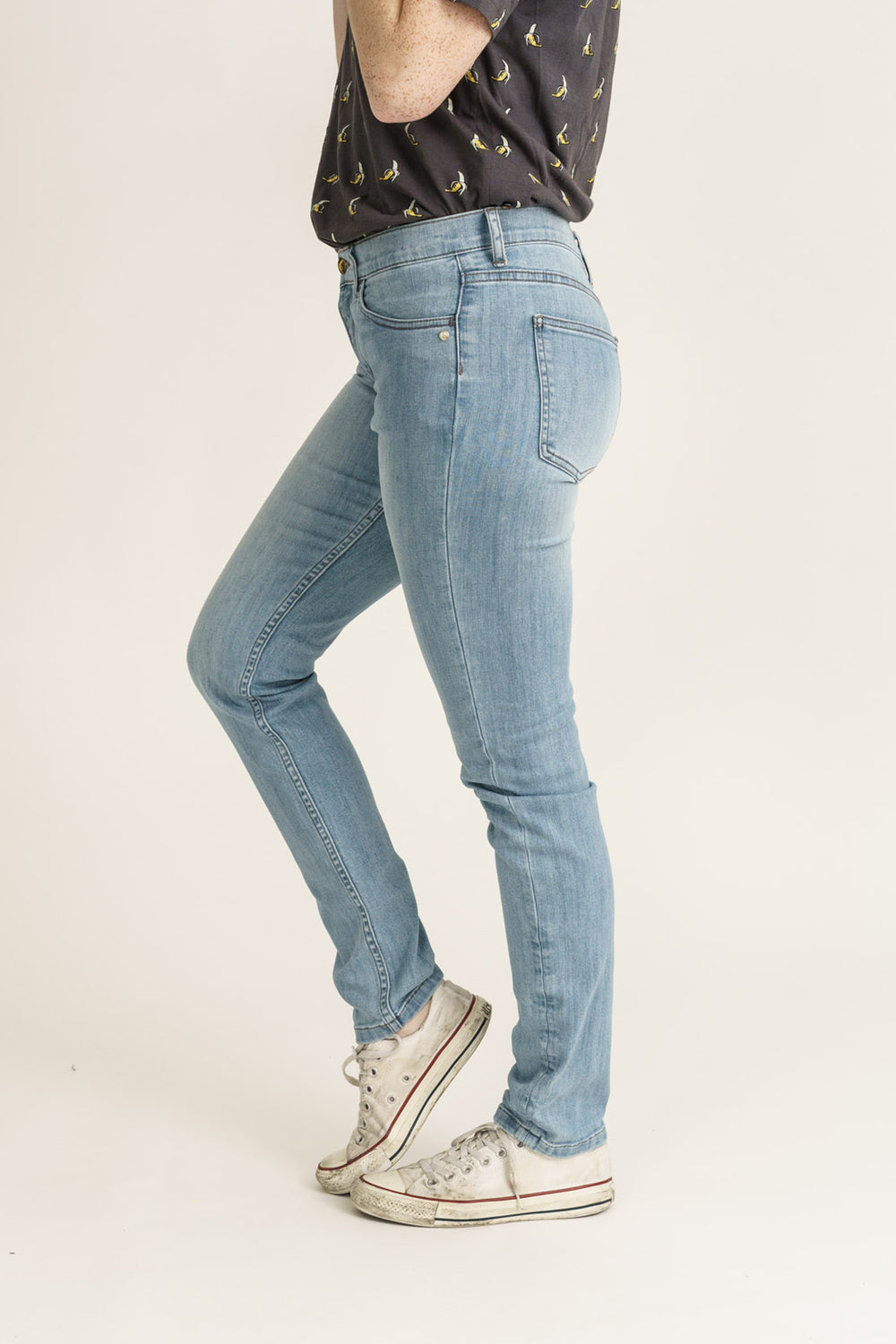 CLASSIC SKINNY // Organic Classic Skinny Jeans in Light Blue Wash - Monkee Genes Organic Jeans Denim - Women's Classic Skinny Monkee Genes Official  Monkee Genes Official