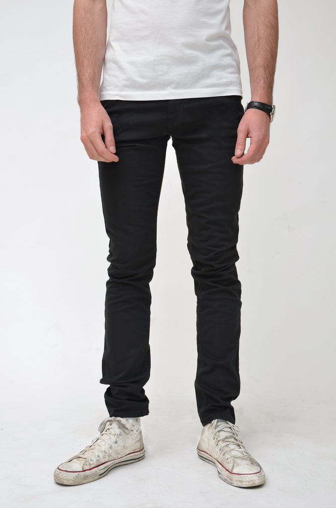 Organic Classic Skinny Jeans in Black Sateen - Monkee Genes Organic Jeans Denim - Men's Classic Skinny Monkee Genes Official  Monkee Genes Official