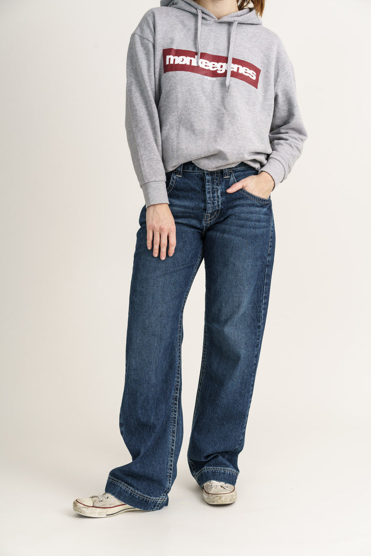 SLOUCH // Organic Loose Fit Jean in Dark Vintage Wash