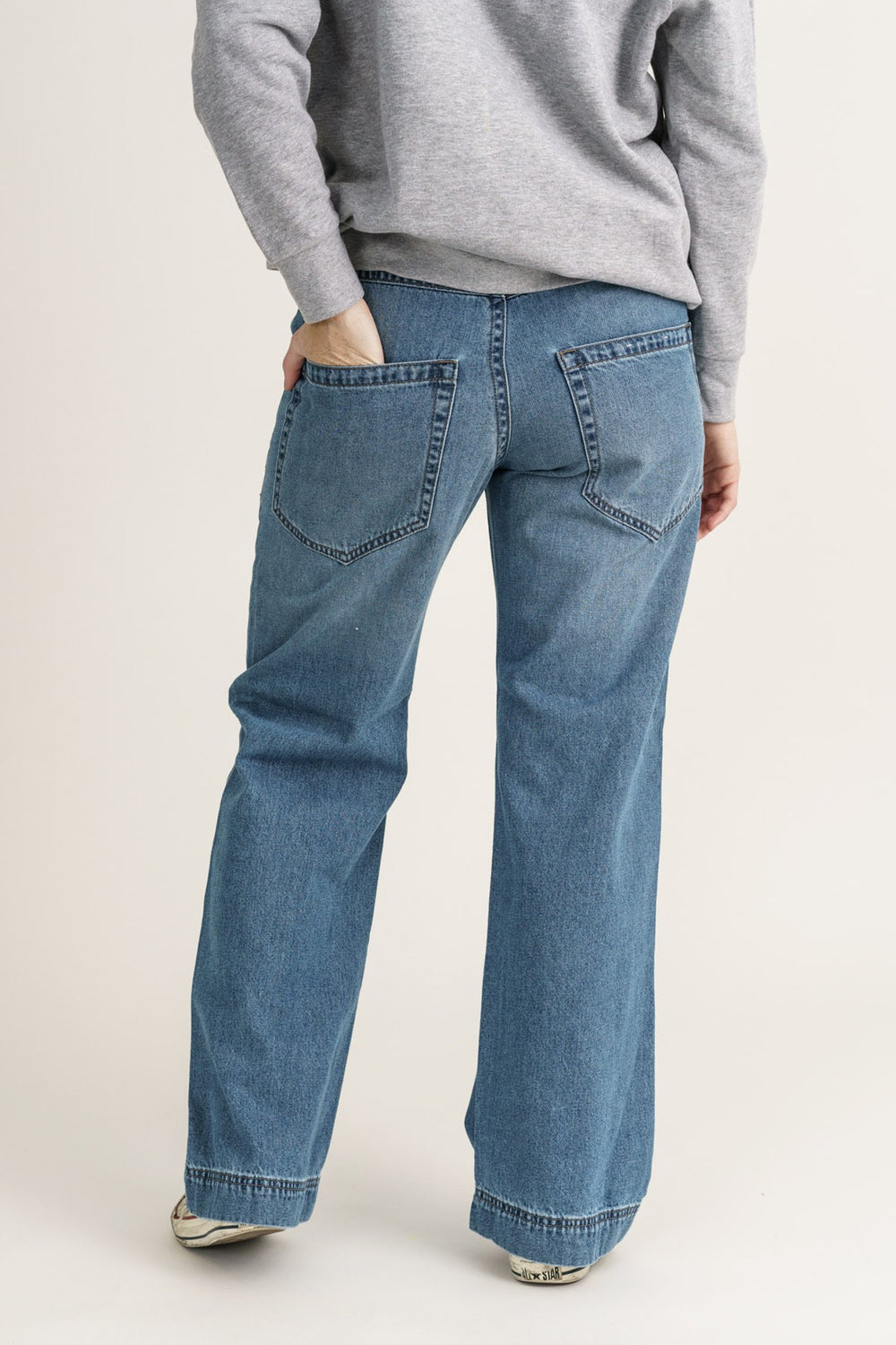 Light Vintage Slouch Jean Loose Fit Organic Denim - Monkee Genes Organic Jeans Denim - Women's Wide Fit Monkee Genes Official  Monkee Genes Official