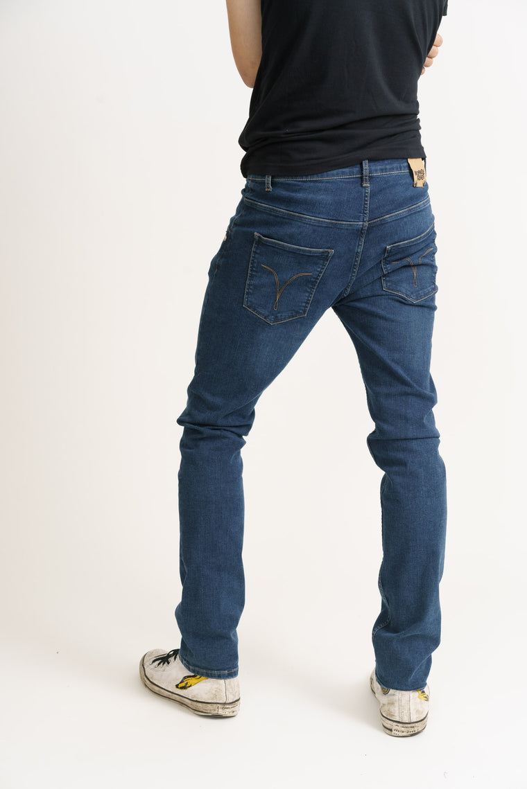 DEAN // Organic Flex Slim Fit Jeans in Dark Wash