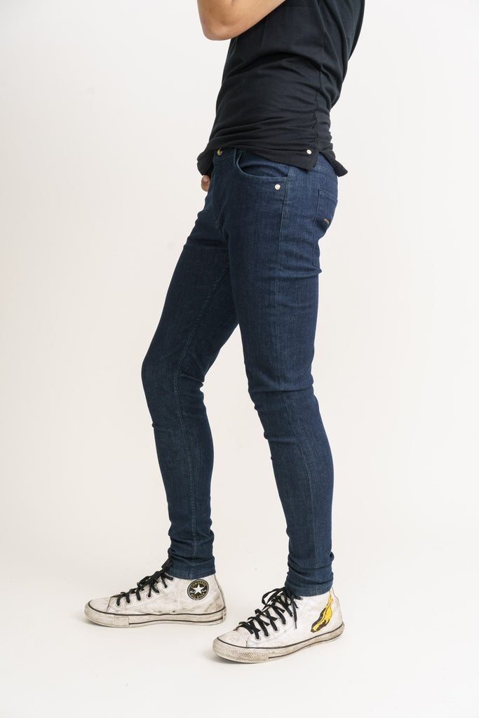 Organic Flex Super Skinny Jeans in Rinse Wash - Monkee Genes, Organic Jeans, Eco Jeans, Sustainable Jeans, Green Jeans, Ethical Fashion, Mens Chinos