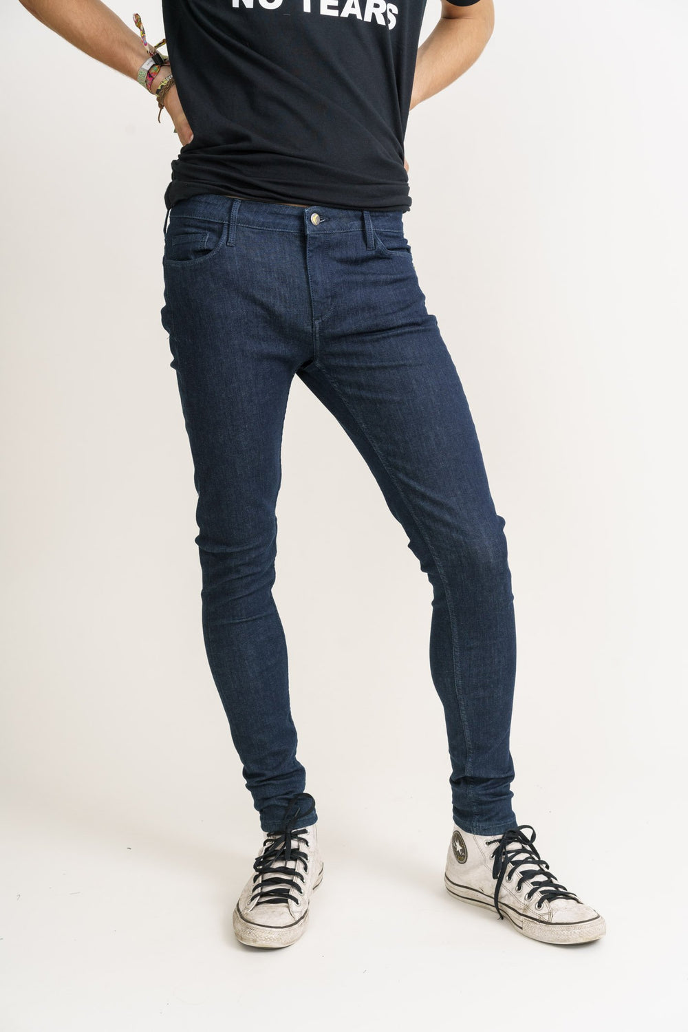 Organic Flex Super Skinny Jeans in Rinse Wash - Monkee Genes Organic Jeans Denim - Men's Silhouette Monkee Genes Official  Monkee Genes Official
