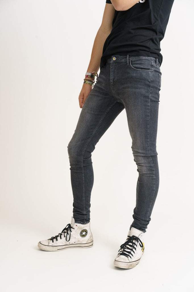 CODY // Organic Flex Super Skinny Mid Rise Jean in Grey Wash - Monkee Genes Organic Jeans Denim - Men's Silhouette Monkee Genes Official  Monkee Genes Official