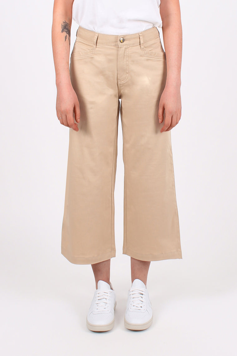 Camel Organic Sateen Cropped All-Niter