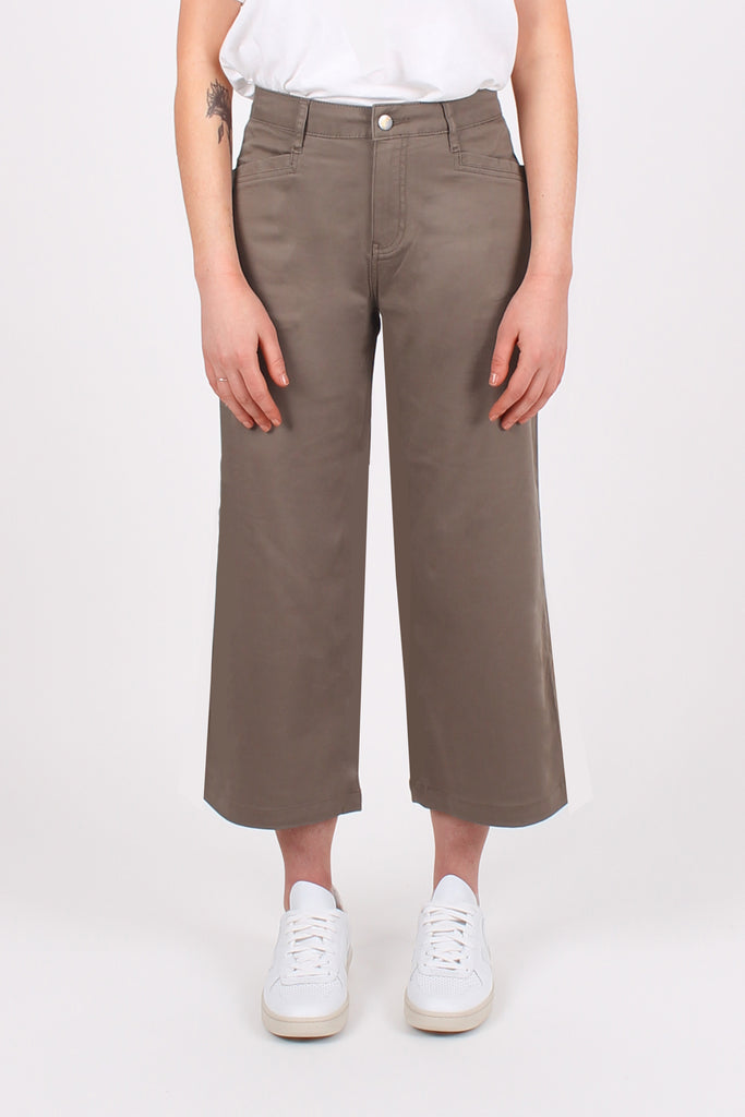 ALL-NITER // Organic Sateen Cropped Wide Leg in Sage - Monkee Genes Organic Jeans Denim - Women's Cropped Monkee Genes Official  Monkee Genes Official