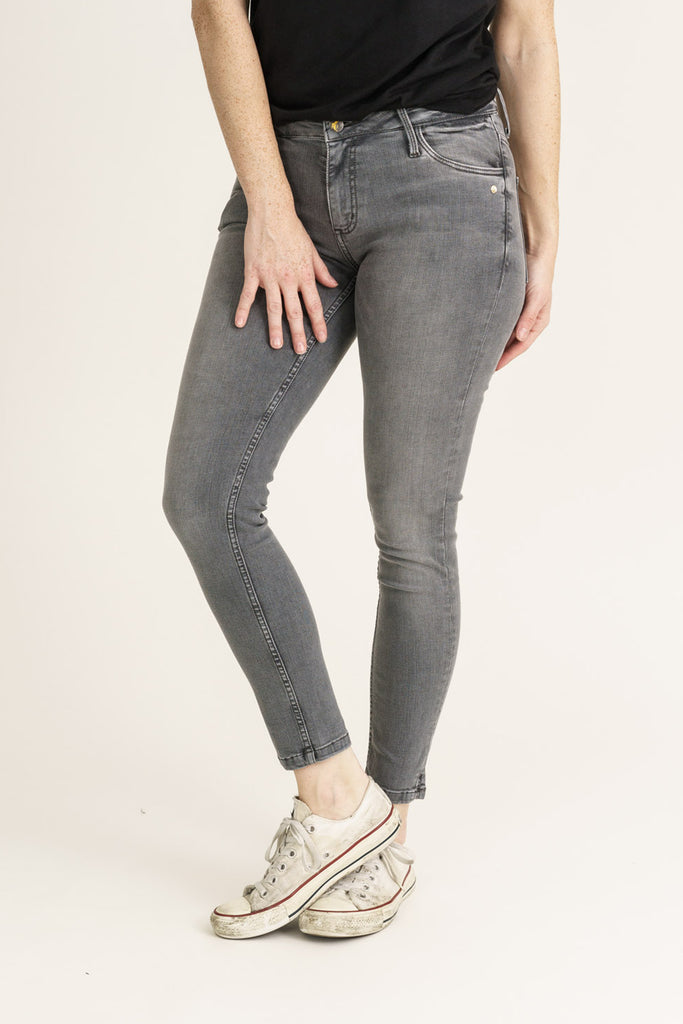 MONROE // Organic Flex Super Skinny Ankle Grazer Jeans in Light Grey - Monkee Genes Organic Jeans Denim - Women's Monroe Monkee Genes Official  Monkee Genes Official