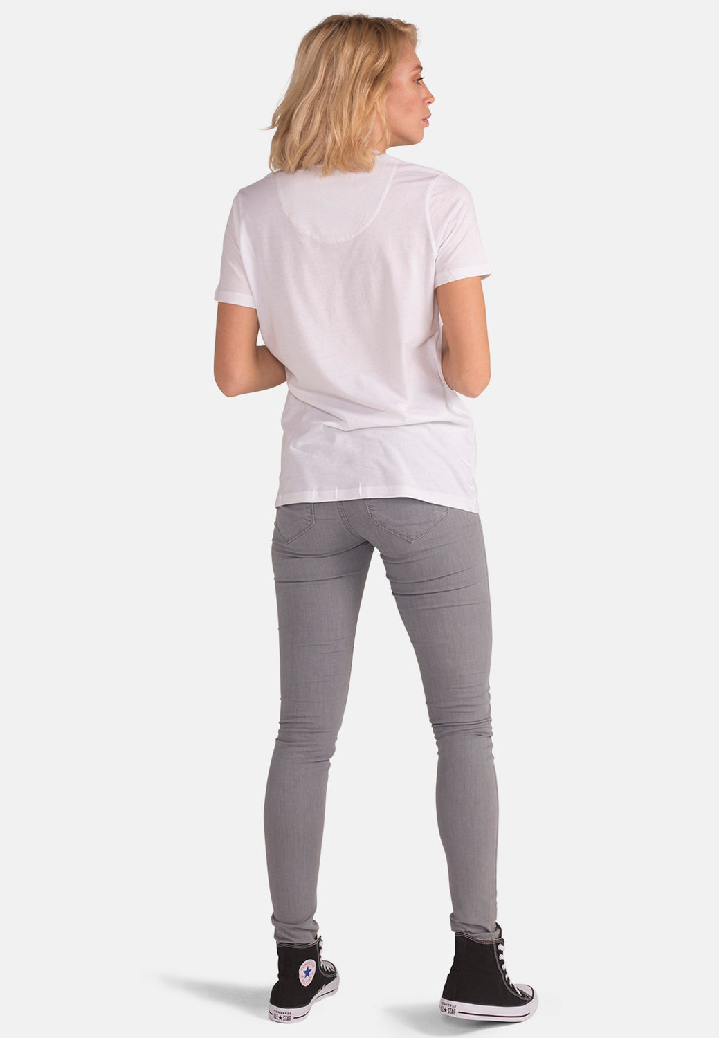 Women's Organic Cotton Mantra Tee in White - Monkee Genes Organic Jeans Denim - Women's T-Shirts Monkee Genes Official  Monkee Genes Official