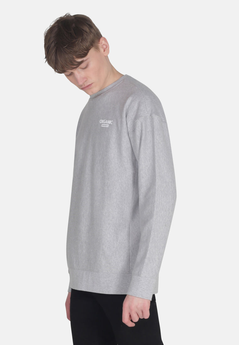 Men's Organic Cotton Oversized Sweat in Grey Marl
