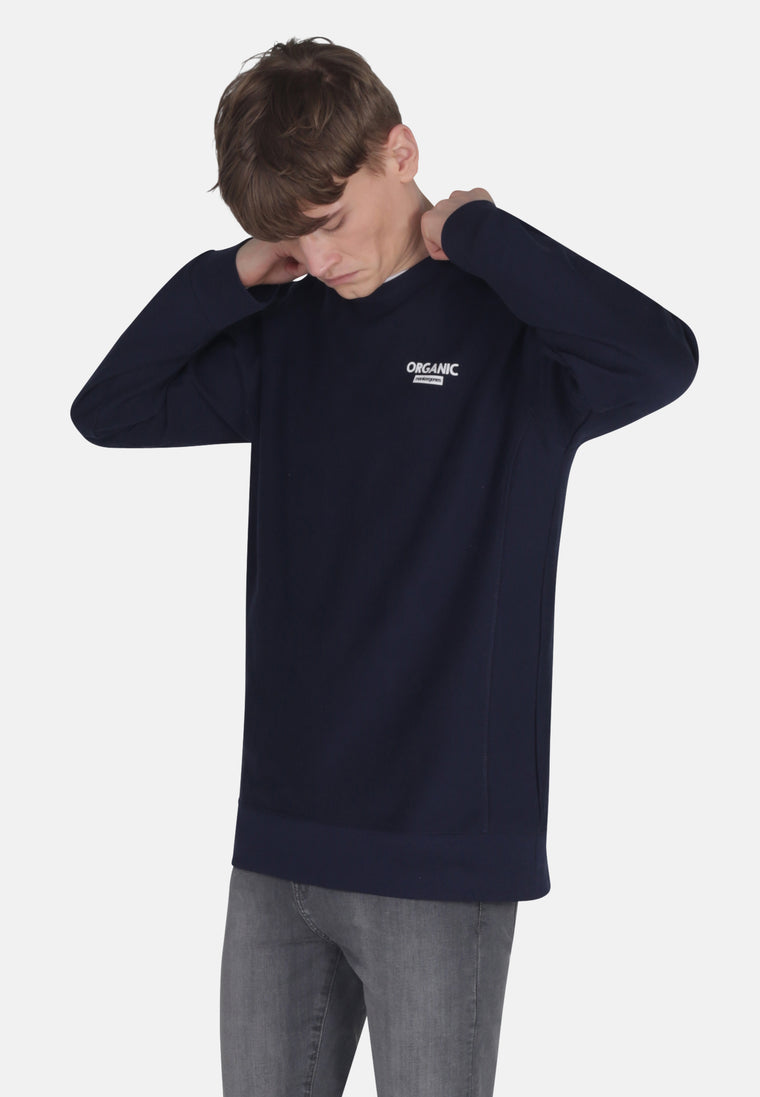 Men's Organic Cotton Crew Sweat in Navy