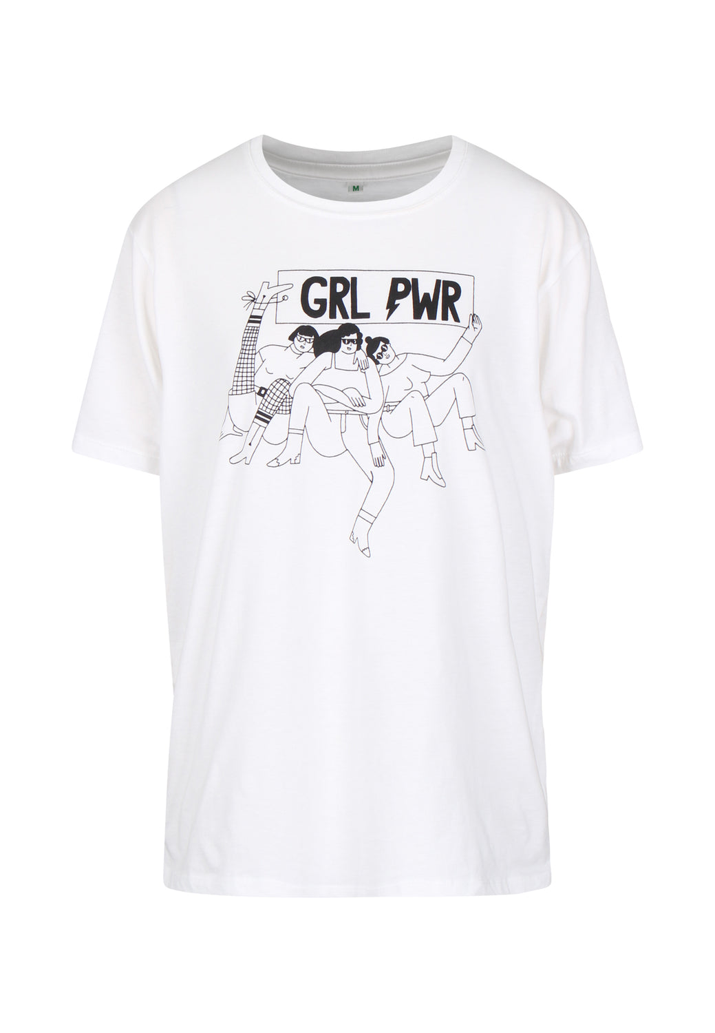 Women's Organic Cotton GRL PWR Artist Collaboration T-Shirt - Monkee Genes Organic Jeans Denim - Women's T-Shirts Monkee Genes Official  Monkee Genes Official