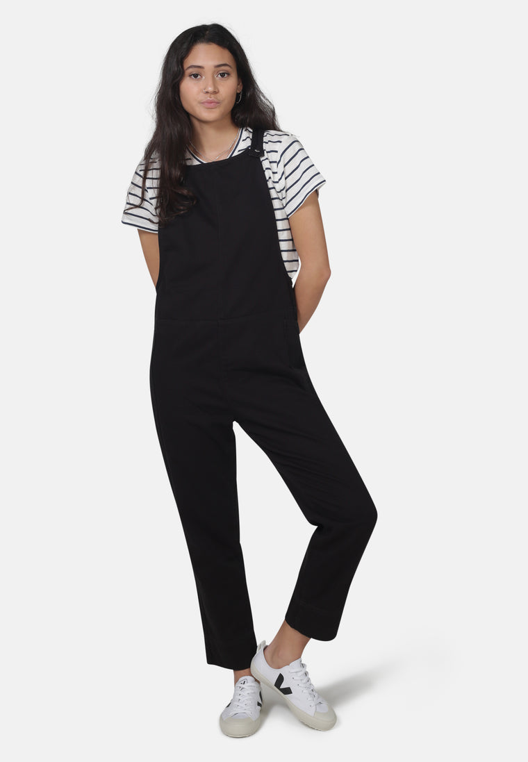 Overall Dungarees in Organic Black Denim - Monkee Genes Organic Jeans Denim - Women's Dungarees Monkee Genes Official  Monkee Genes Official