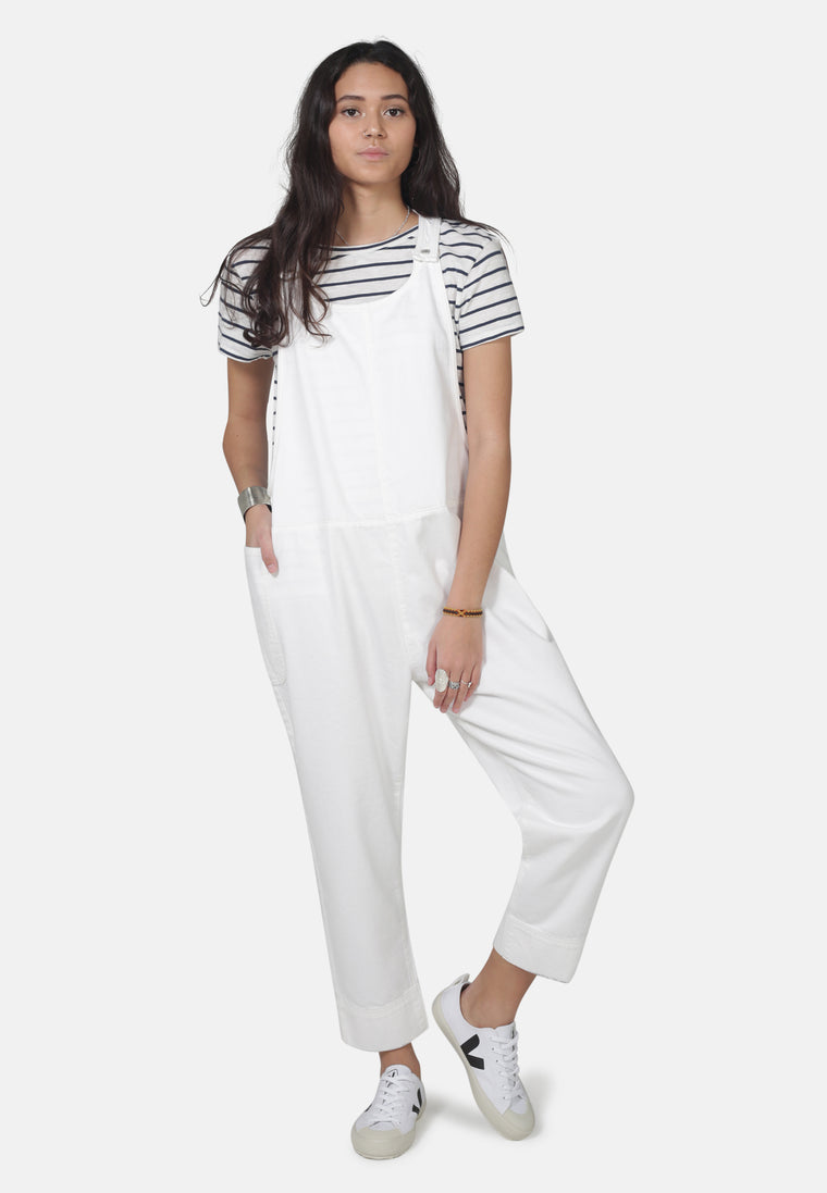 DUNGAREES // Organic Overall Dungarees in White Denim