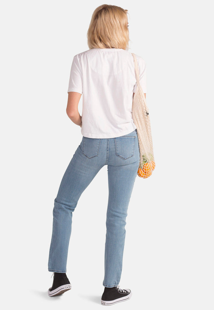EMILY // Organic Slim Fit Jeans in Light Wash - Monkee Genes Organic Jeans Denim - Women's Slim Fit Monkee Genes Official  Monkee Genes Official