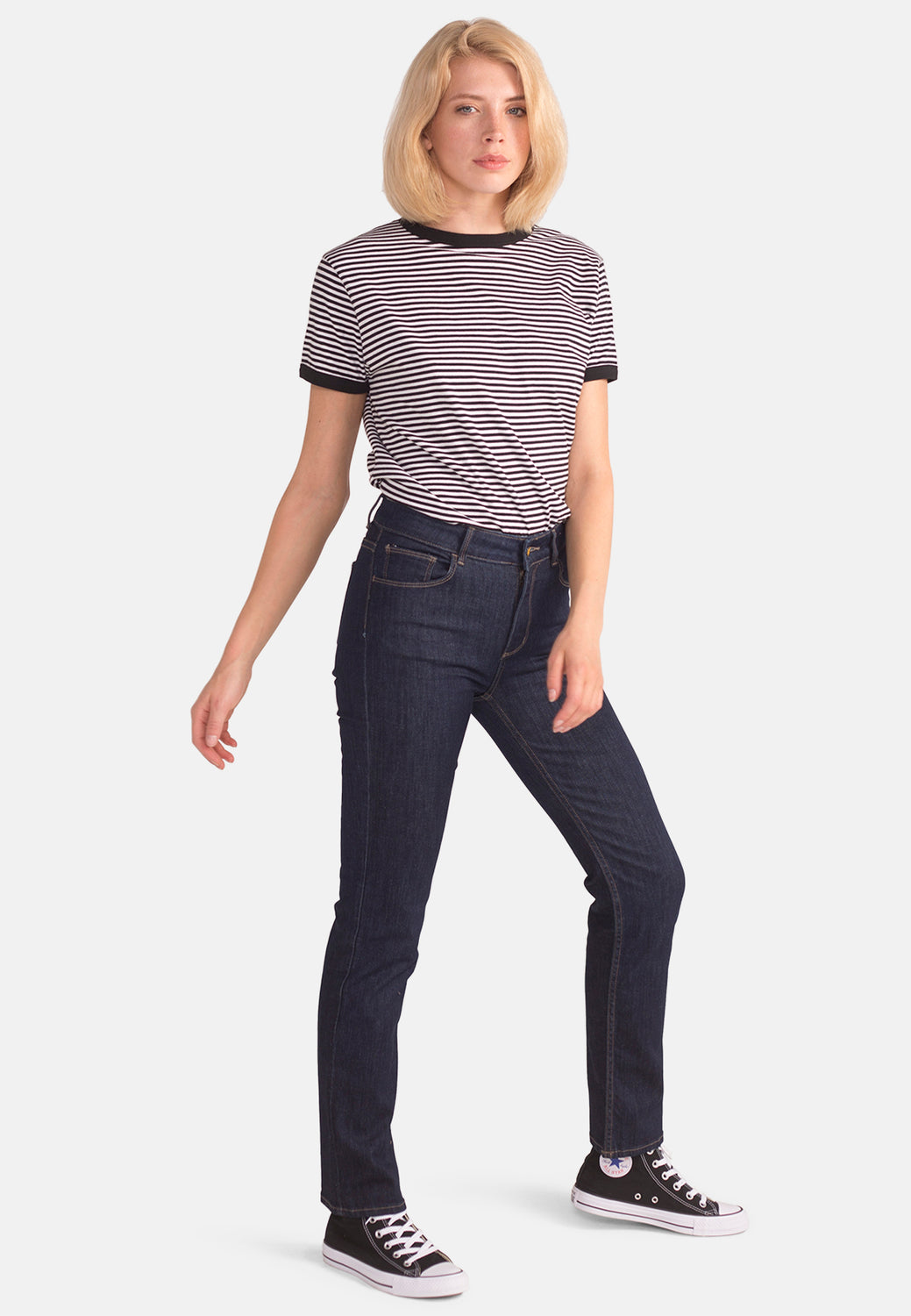 EMILY // Organic Slim Fit Jeans in Rinse Wash - Monkee Genes Organic Jeans Denim - Women's Slim Fit Monkee Genes Official  Monkee Genes Official