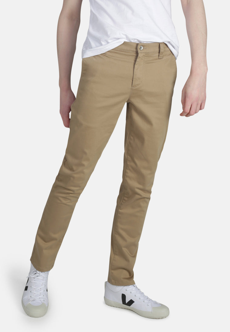CHINO // Organic Sateen Chino in Dark Buff