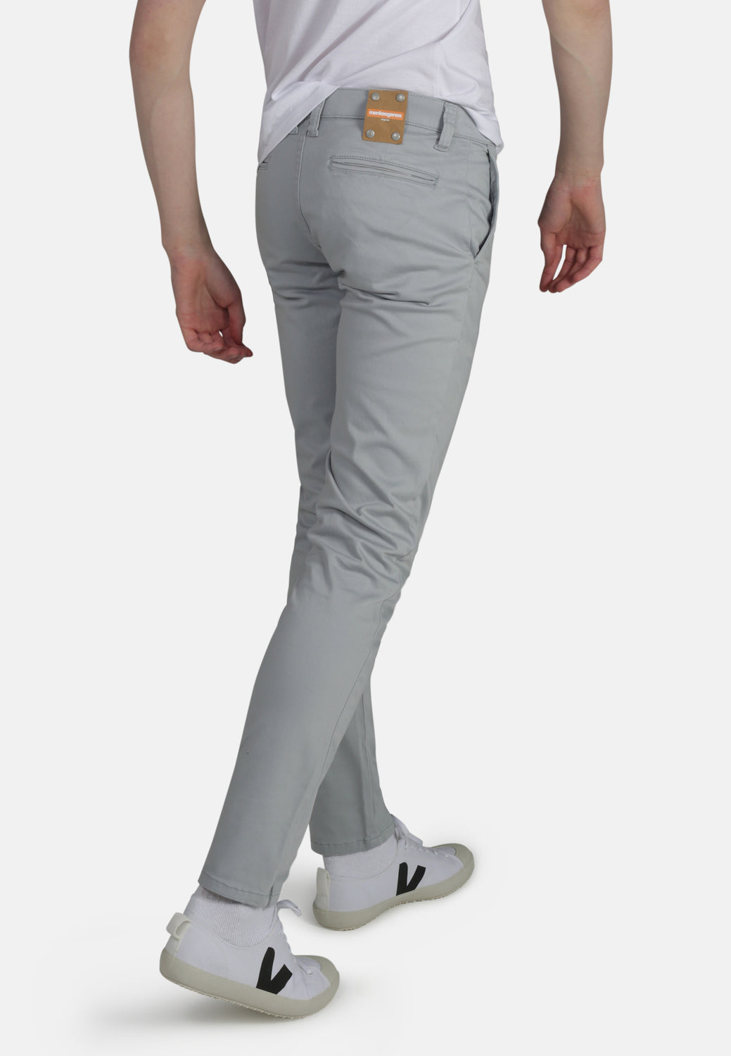 CHINO // Organic Sateen Chino in Silk Blue - Monkee Genes Organic Jeans Denim - Men's Chinos Monkee Genes Official  Monkee Genes Official
