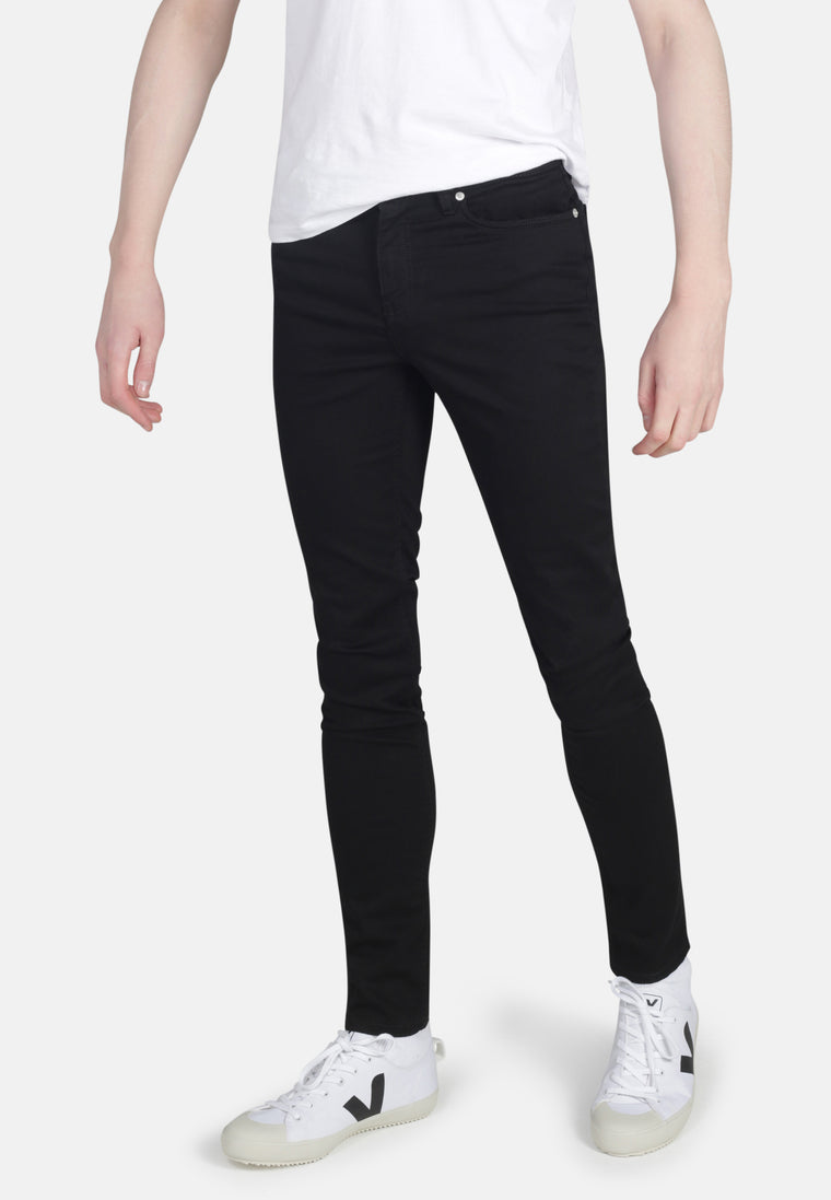 CLASSIC SKINNY // Recycled Organic Flex Classic Skinny Jeans in Black Jet