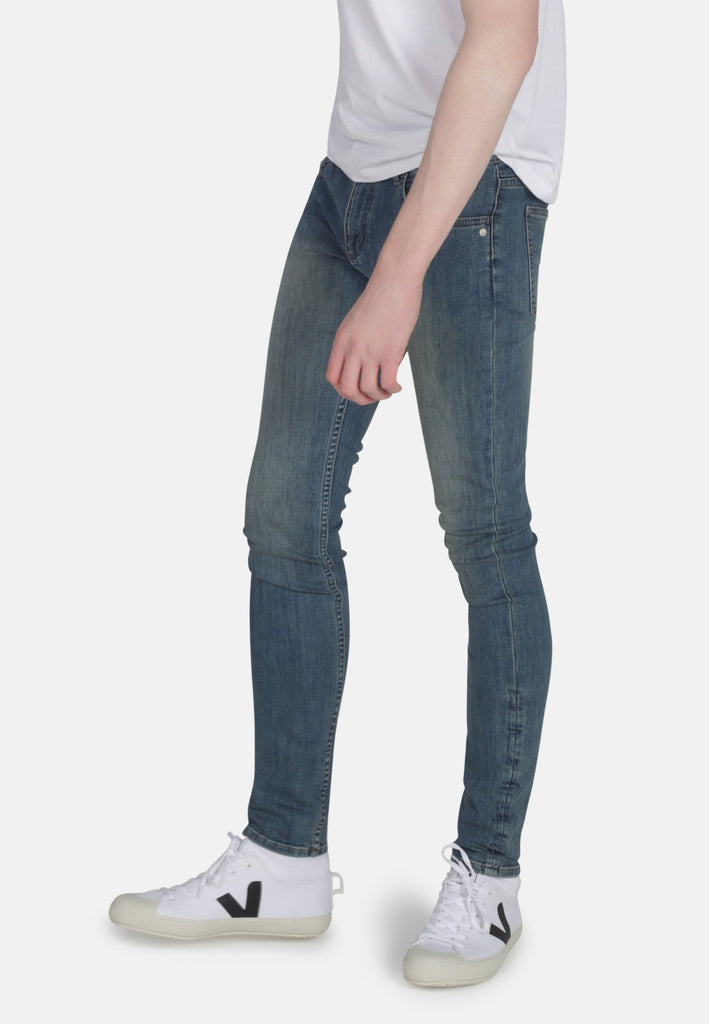 CLASSIC SKINNY // Organic Classic Skinny Jeans in Mid Wash - Monkee Genes Organic Jeans Denim - Men's Classic Skinny Monkee Genes Official  Monkee Genes Official