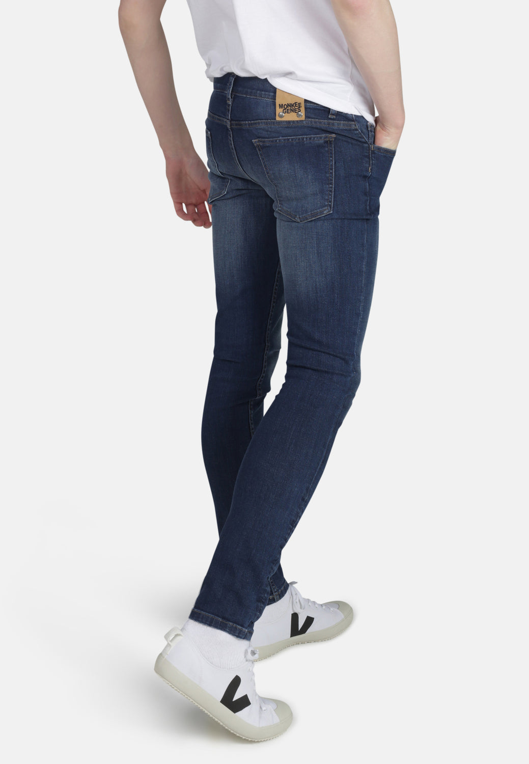 CLASSIC SKINNY // Organic Classic Skinny Jeans in Dark Wash - Monkee Genes Organic Jeans Denim - Men's Classic Skinny Monkee Genes Official  Monkee Genes Official