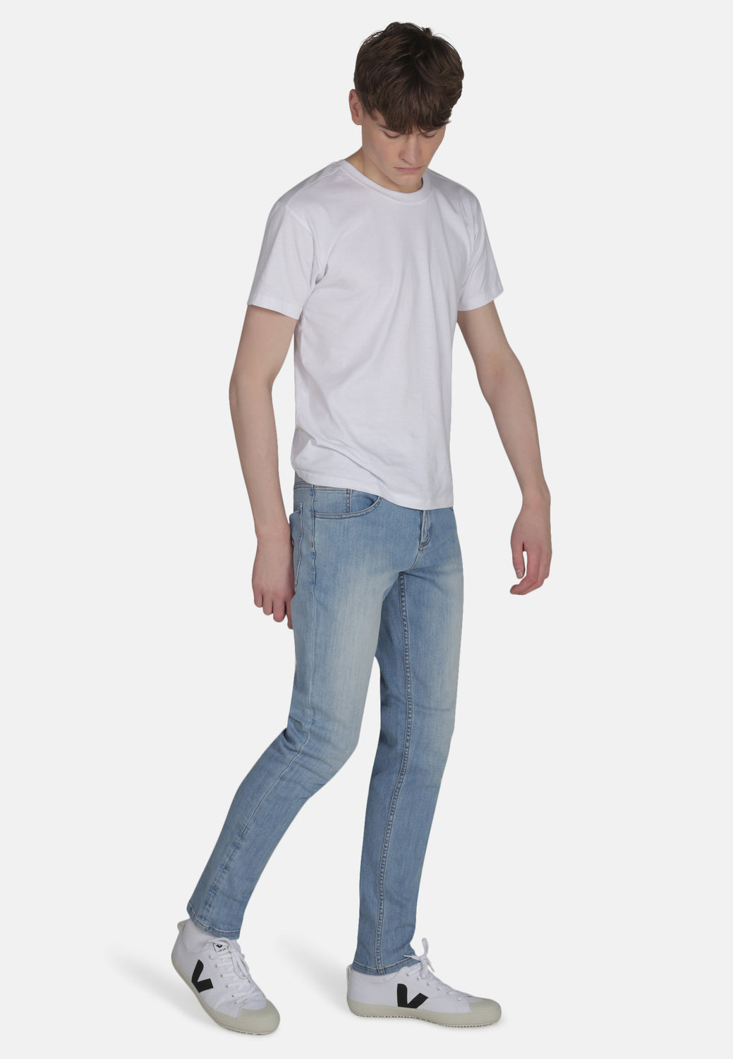 Organic Classic Skinny Jeans in Light Wash