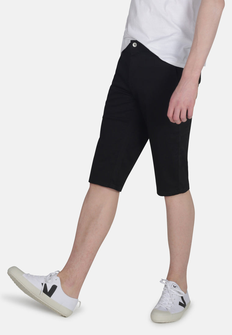 CHINO SHORTS // Organic Sateen Chino Short in Black