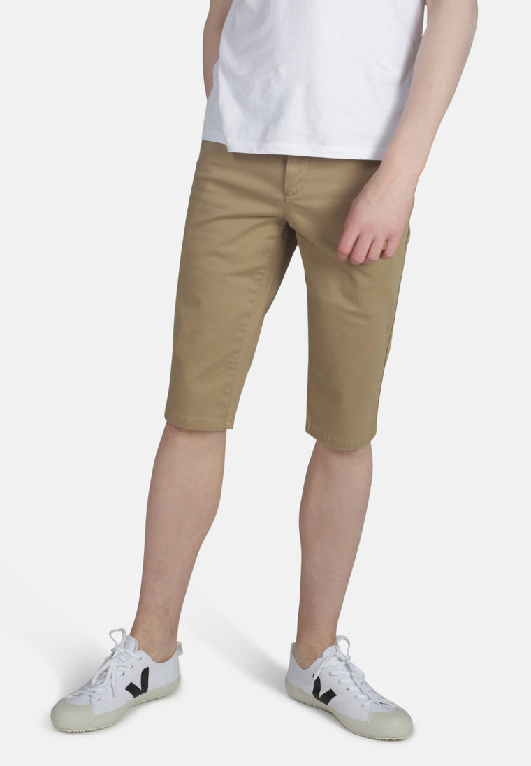 CHINO SHORT // Organic Sateen Chino Short in Dark Buff
