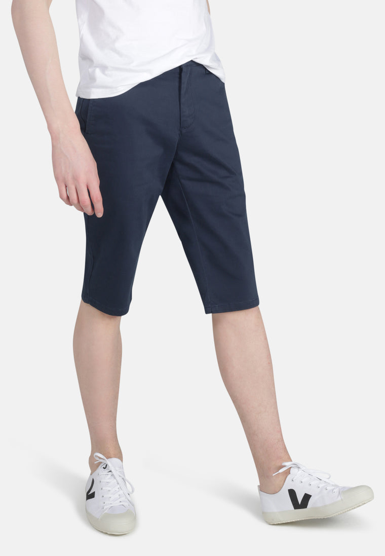 CHINO SHORT // Organic Sateen Chino Short in Navy
