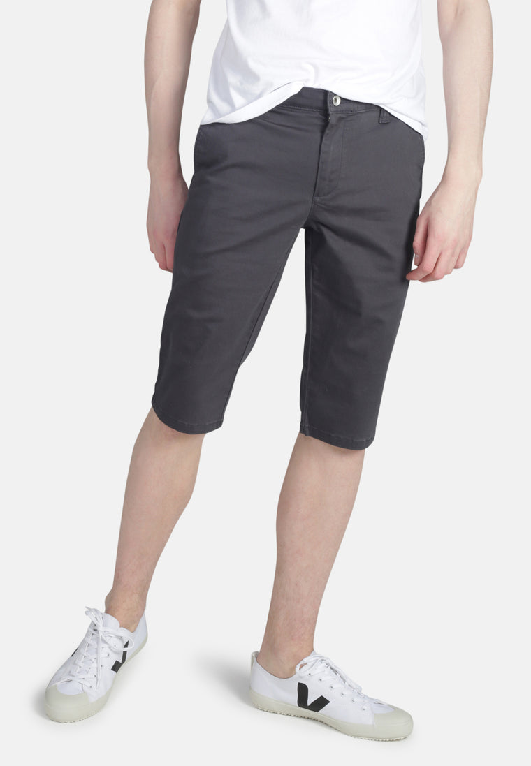 CHINO SHORT // Organic Sateen Chino Short in Slate