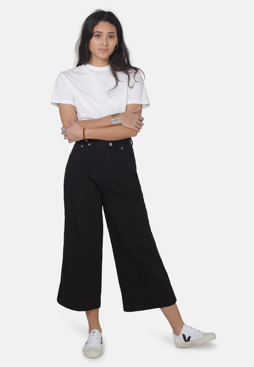 WIDE LEG // Organic Cropped Wide Leg Jeans in Black - Monkee Genes Organic Jeans Denim - Women's Cropped Monkee Genes Official  Monkee Genes Official