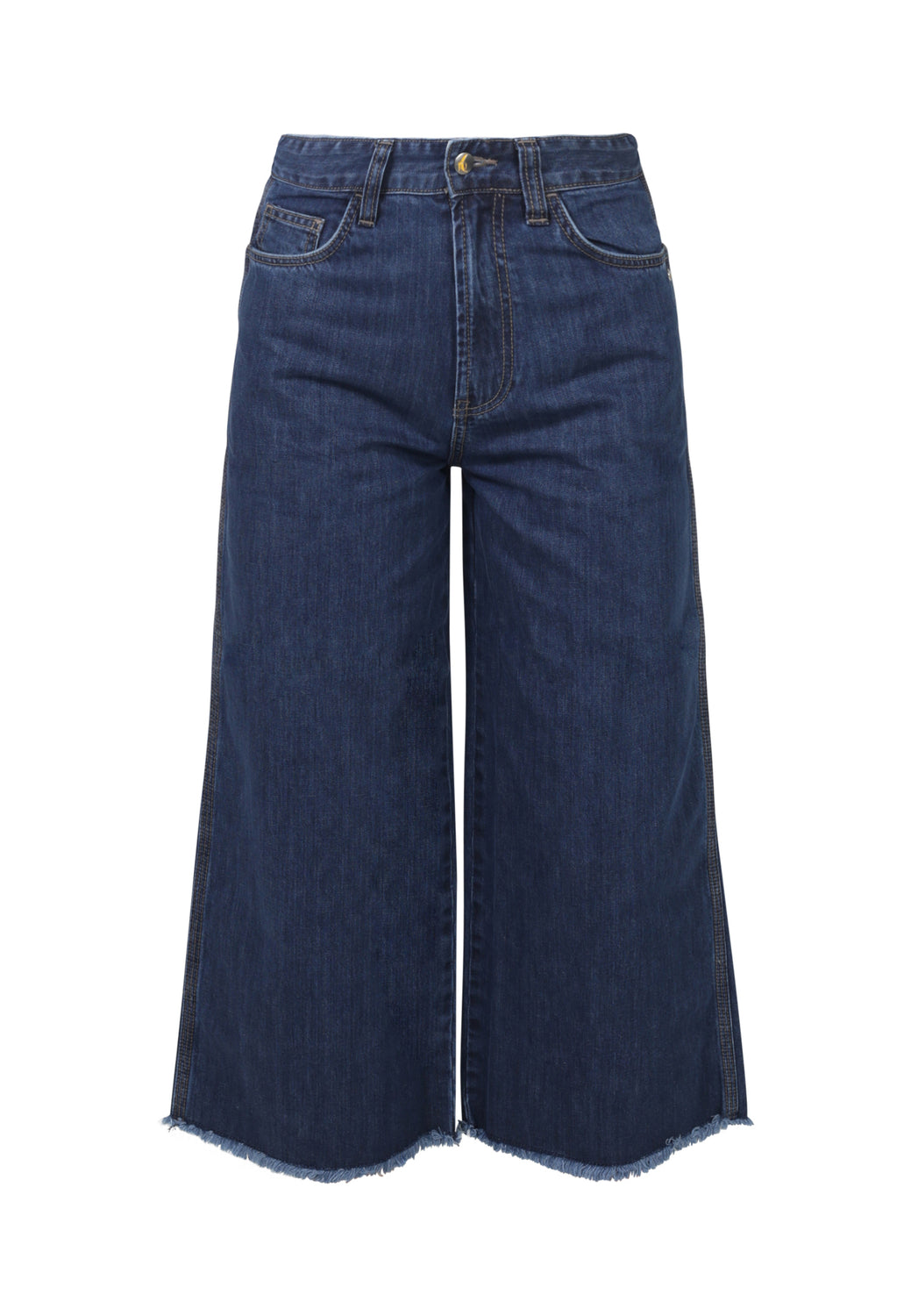 WIDE LEG // Organic Cropped Wide Leg Jeans in Dark Wash - Monkee Genes Organic Jeans Denim - Women's Cropped Monkee Genes Official  Monkee Genes Official