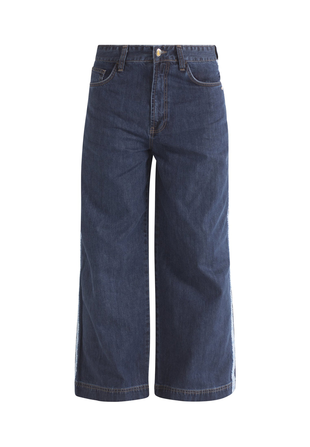 Organic Wide Fit Skate Jeans In Dark Wash With Tape Mens