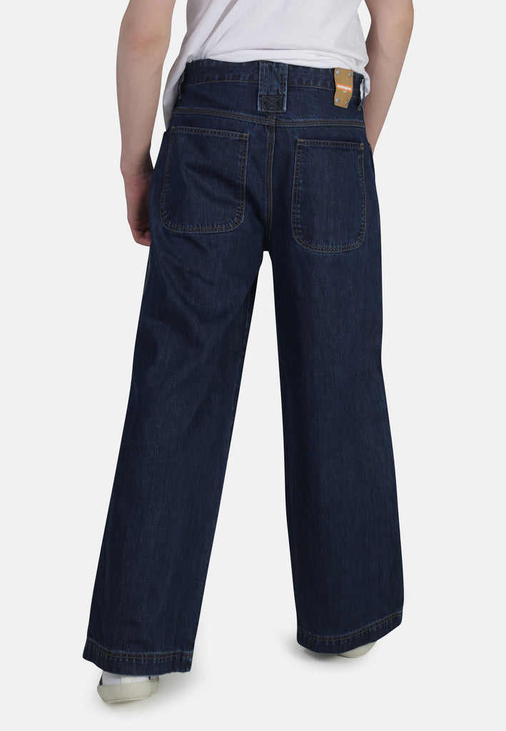 WIDE LEG // Organic Wide Leg Jeans in Dark Wash - Monkee Genes Organic Jeans Denim - Men's Wide Jeans Monkee Genes Official  Monkee Genes Official