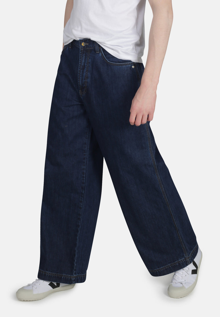 WIDE LEG // Organic Wide Leg Jeans in Dark Wash