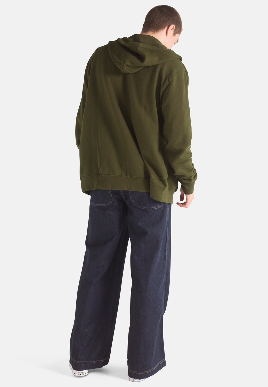 Organic Wide Fit Skate Jeans in Rinse Wash