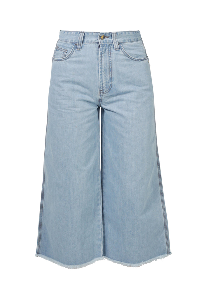 WIDE LEG // Organic Cropped Wide Leg Jeans in Light Wash - Monkee Genes Organic Jeans Denim - Women's Cropped Monkee Genes Official  Monkee Genes Official