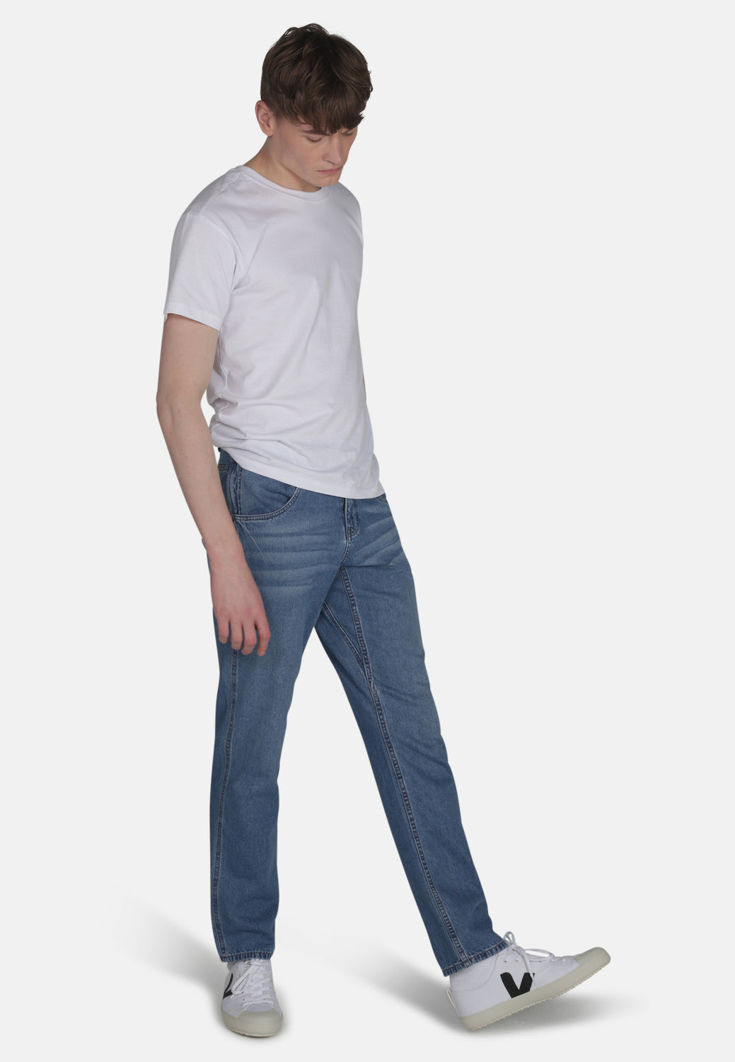 WORKER // Organic Relaxed Straight Leg Jean in Light Wash - Monkee Genes Organic Jeans Denim - Men's Wide Jeans Monkee Genes Official  Monkee Genes Official