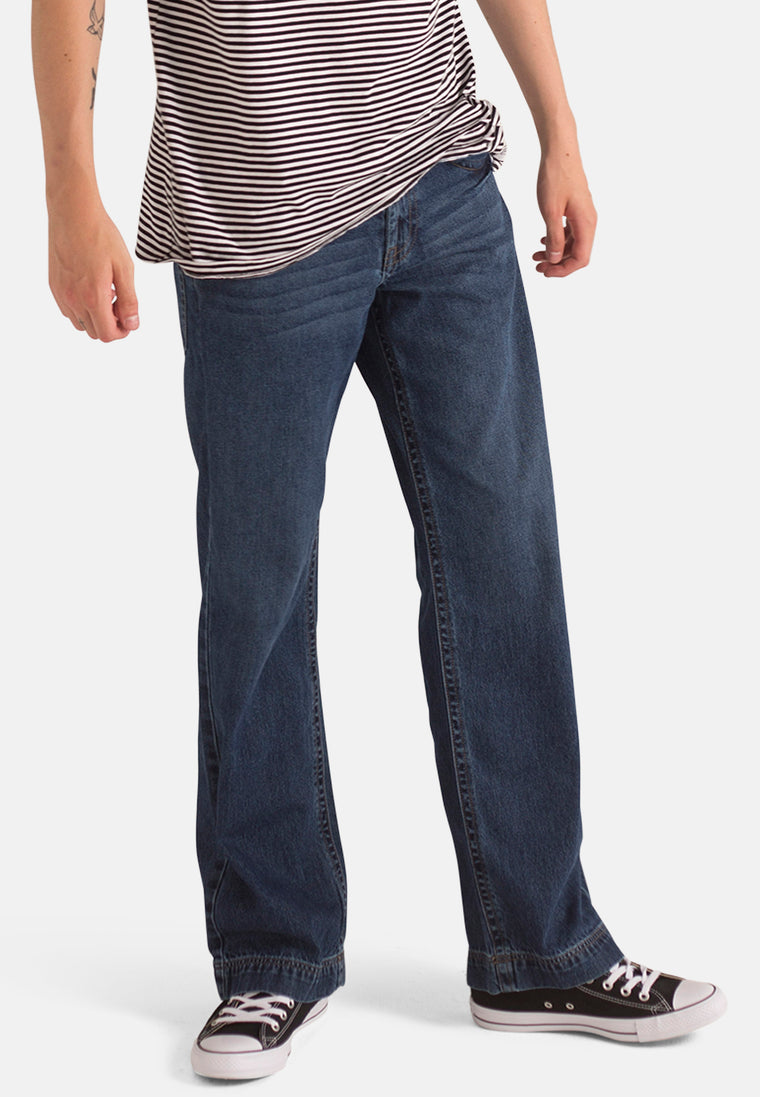Organic Loose Fit Slouch Jeans in Dark Wash