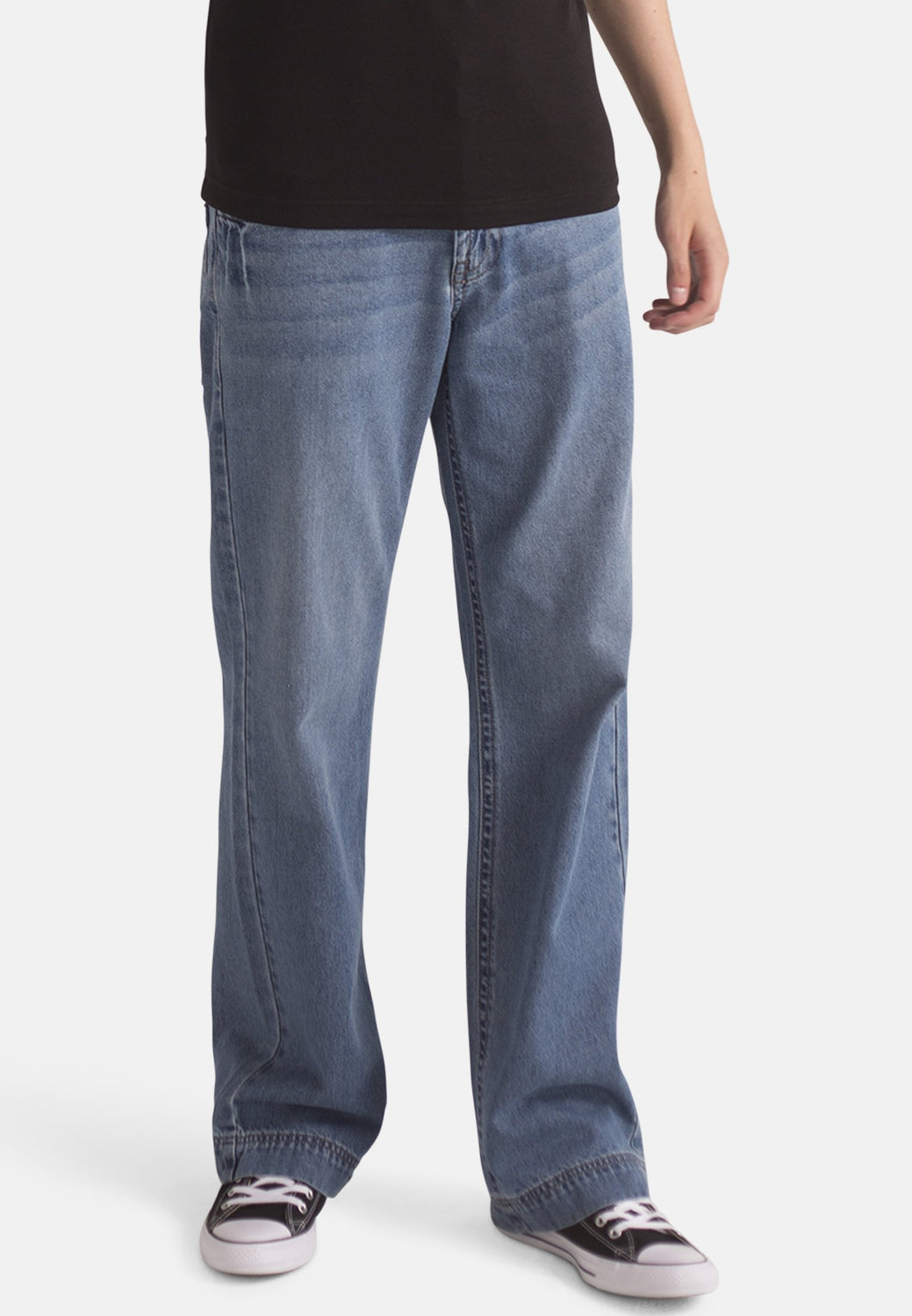 Organic Loose Fit Slouch Jeans in Light Wash - Monkee Genes Organic Jeans Denim - Men's Wide Jeans Monkee Genes Official  Monkee Genes Official
