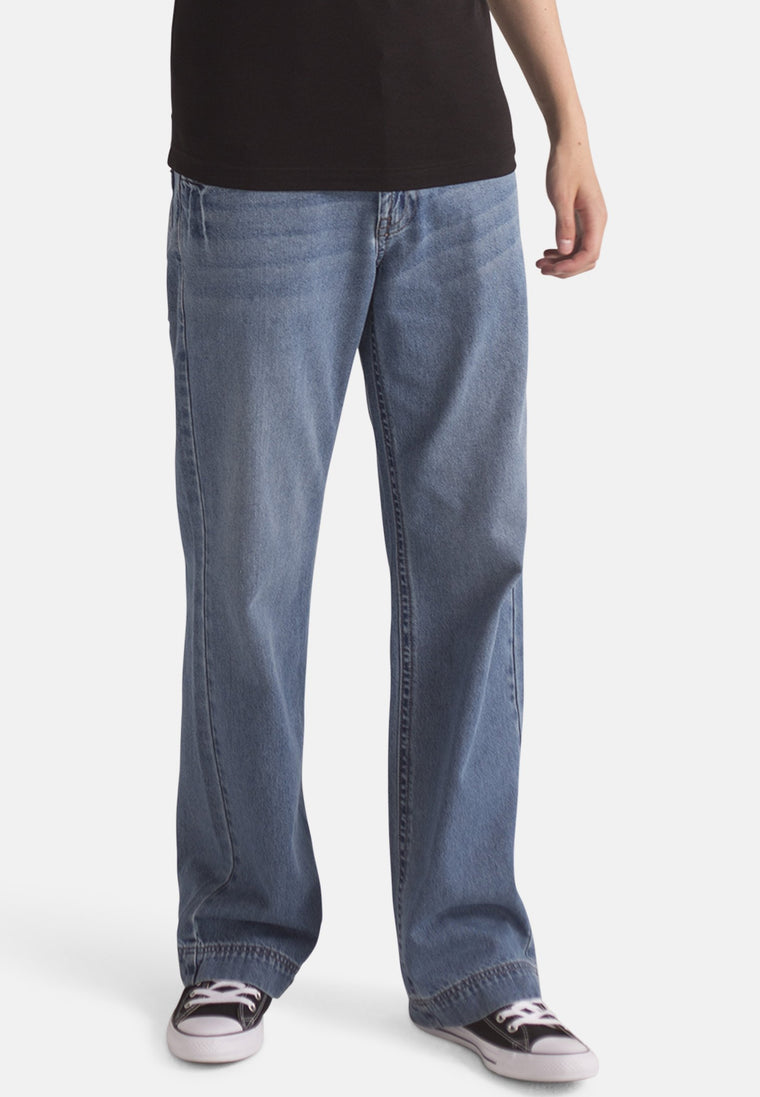 Organic Loose Fit Slouch Jeans in Light Wash