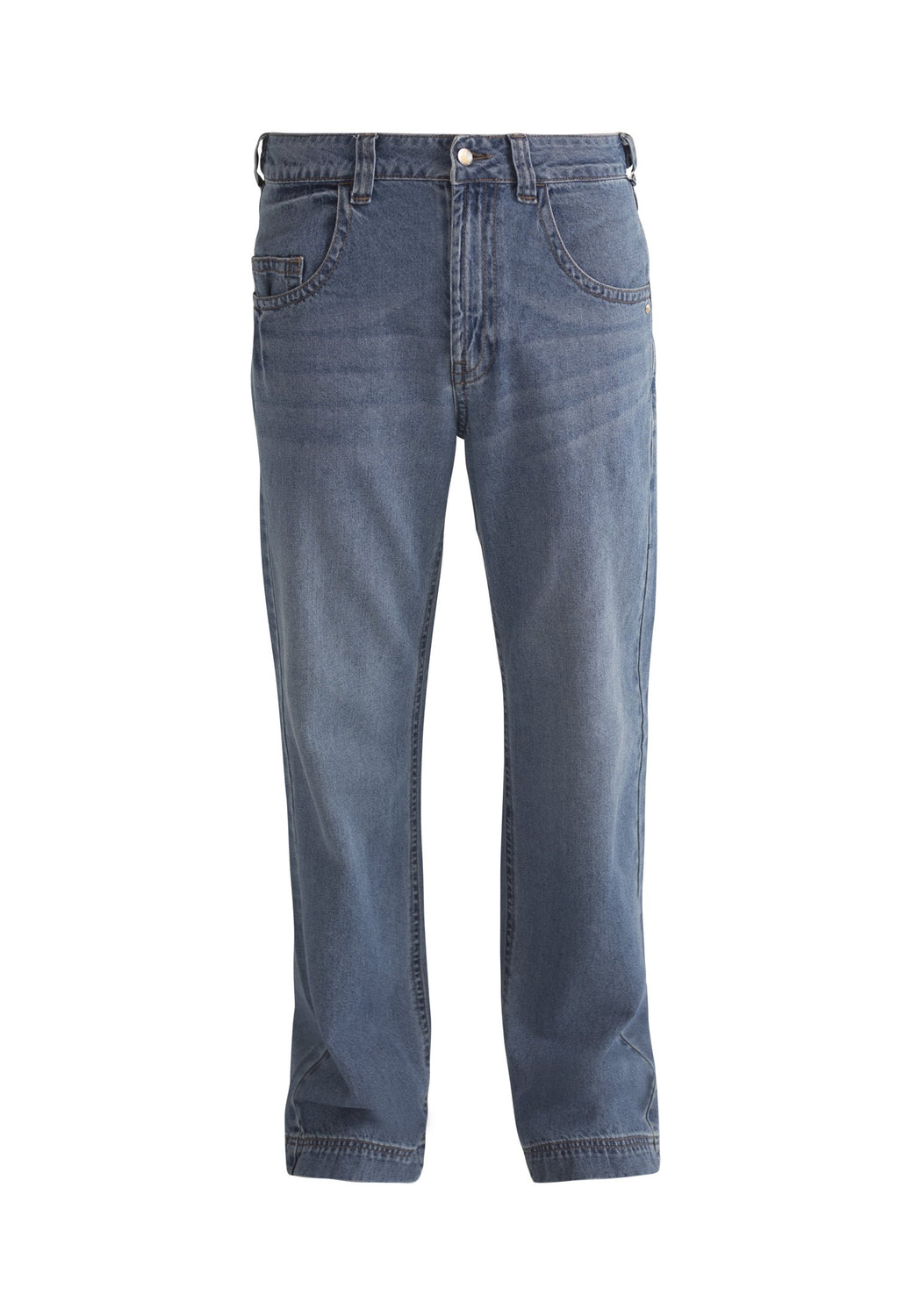 SLOUCH // Organic Loose Fit Jean in Light Vintage Wash - Monkee Genes Organic Jeans Denim - Men's Wide Jeans Monkee Genes Official  Monkee Genes Official