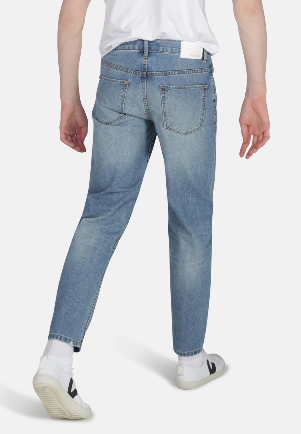 JACK // Organic Tapered Fit Jeans in Light Wash - Monkee Genes Organic Jeans Denim - Men's Tapered Monkee Genes Official  Monkee Genes Official