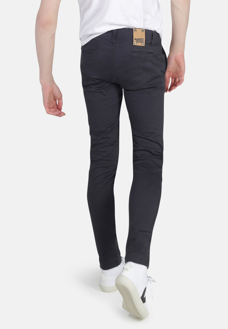 HARRY // Organic Sateen Skinny Chino in Slate