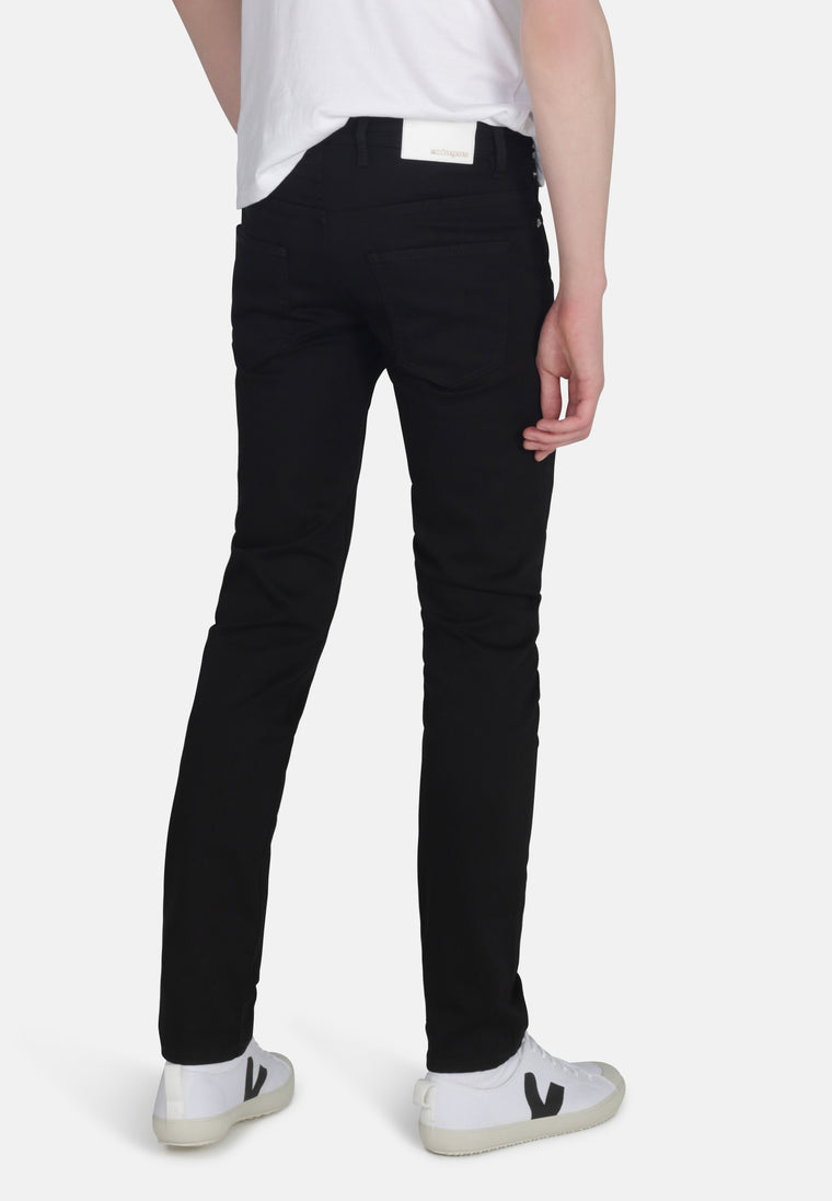 DEAN // Recycled Organic Flex Slim Fit Jeans in Jet Black